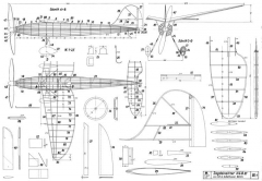 Jagdeinsitzer plan model airplane plan