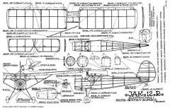 Jak 12 R model airplane plan