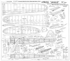 Janus Frog 44in model airplane plan