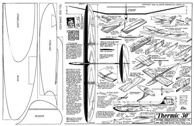 Thermic 30 model airplane plan
