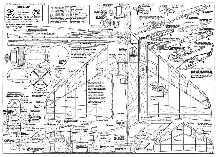 Javahawk model airplane plan