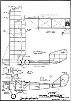Curtiss JN-1 Jenny model airplane plan