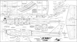 Jenny deBolt 57in model airplane plan