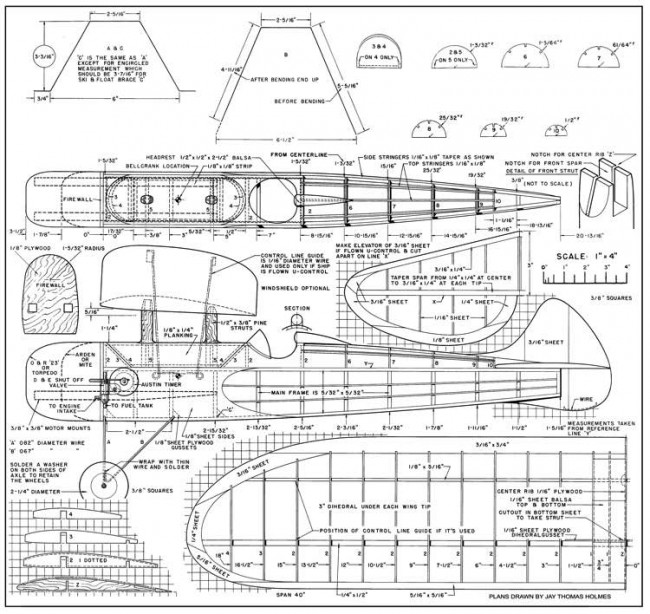 Jerseyette-AT 10-48 model airplane plan