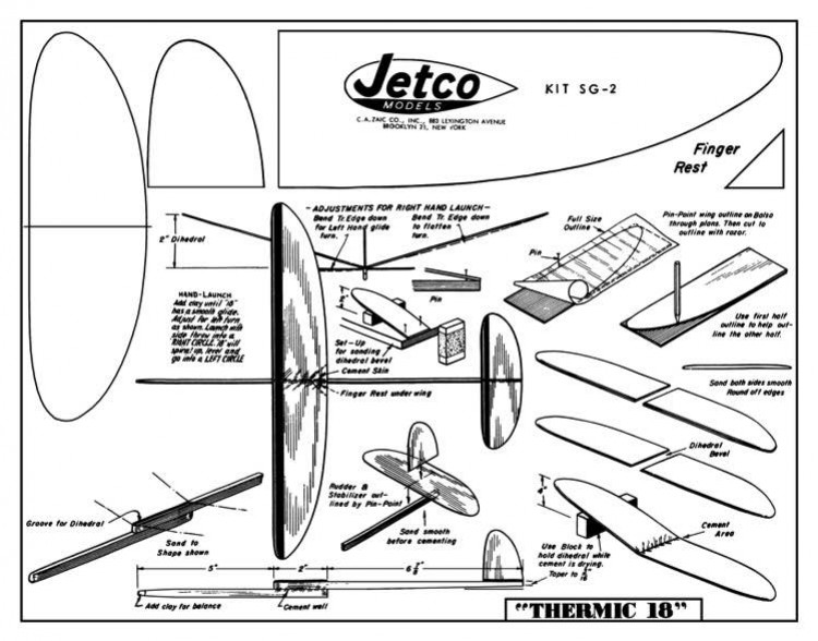 Thermic 18 model airplane plan