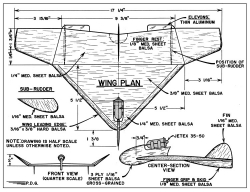 Jetex Delta model airplane plan