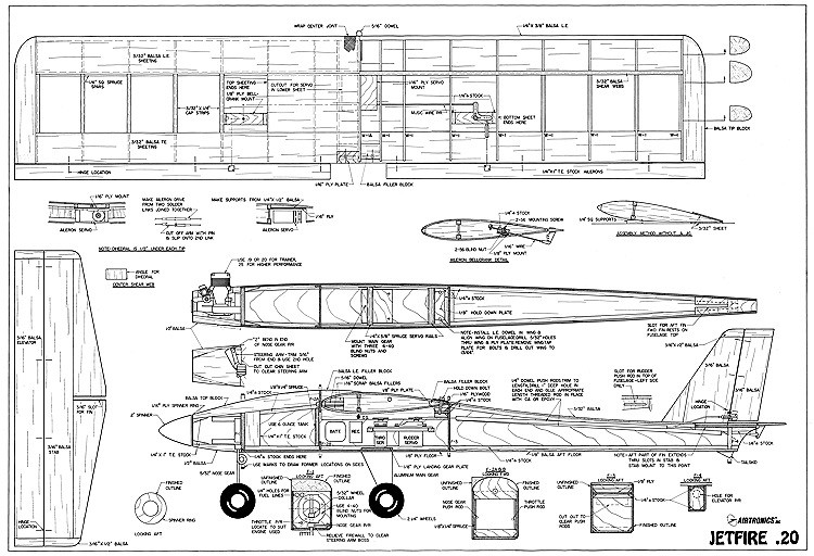 Jetfire 20 Airtronics-1 model airplane plan