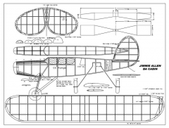 Jimmie Allen BA Cabin model airplane plan