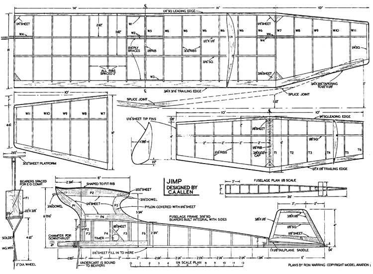 Jimp 48in model airplane plan