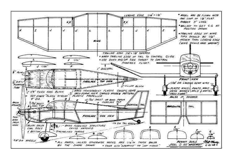 Jodel-D-150-Mascaret model airplane plan