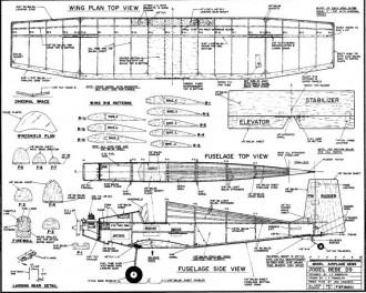Jodel Bebe model airplane plan