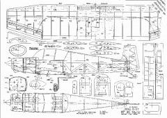 JODEL D-117 model airplane plan