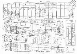 JODEL D-117 model airplane plan