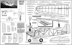 Johnson Rocket 31in model airplane plan
