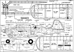 Jolly Roger CL model airplane plan