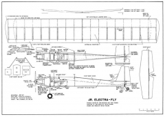 Jr Electrafly model airplane plan