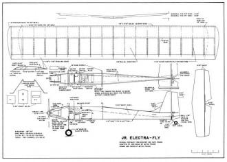 Jr Electrafly model airplane plan