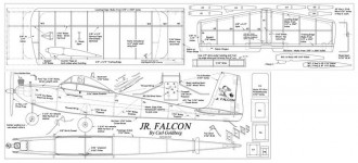 Jr Falcon model airplane plan