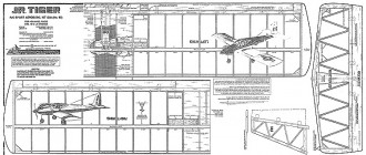 Jr Tiger Goldberg model airplane plan