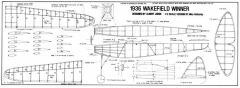 1936 Wakefiel Winner by Albert Judge model airplane plan