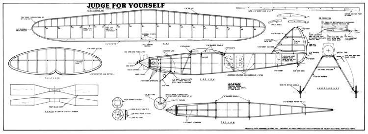 Judge For Yourself model airplane plan