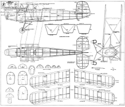 Jungmann model airplane plan