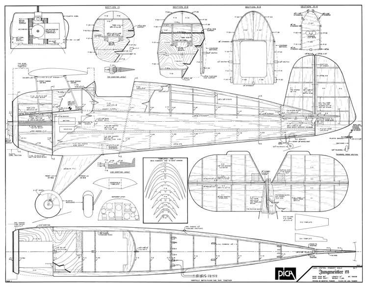 Jungmeister 133 model airplane plan