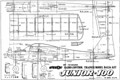 Junior 100 model airplane plan