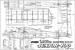 Junior 100 model airplane plan