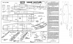 Junior Sailplane 20in model airplane plan