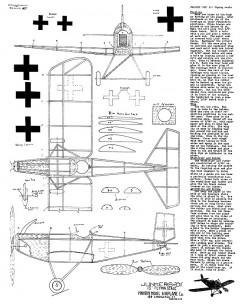 Junkers D1 15in model airplane plan