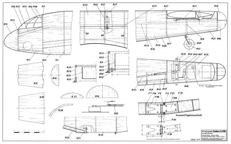 Junkers Ju 290 model airplane plan