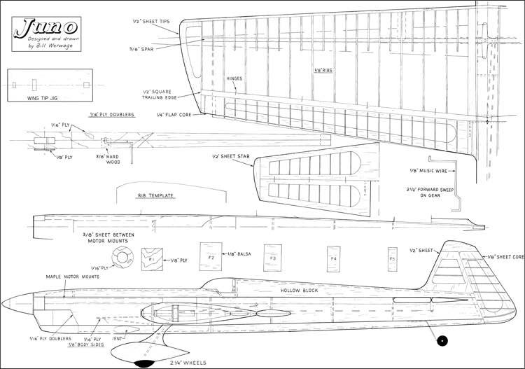 Juno Stunt 56in model airplane plan