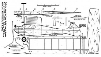 Just Right model airplane plan