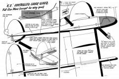 KE chuck-glider model airplane plan