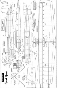 KK 1943 Stunt Queen model airplane plan
