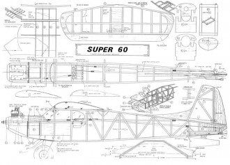KK Super 60 model airplane plan