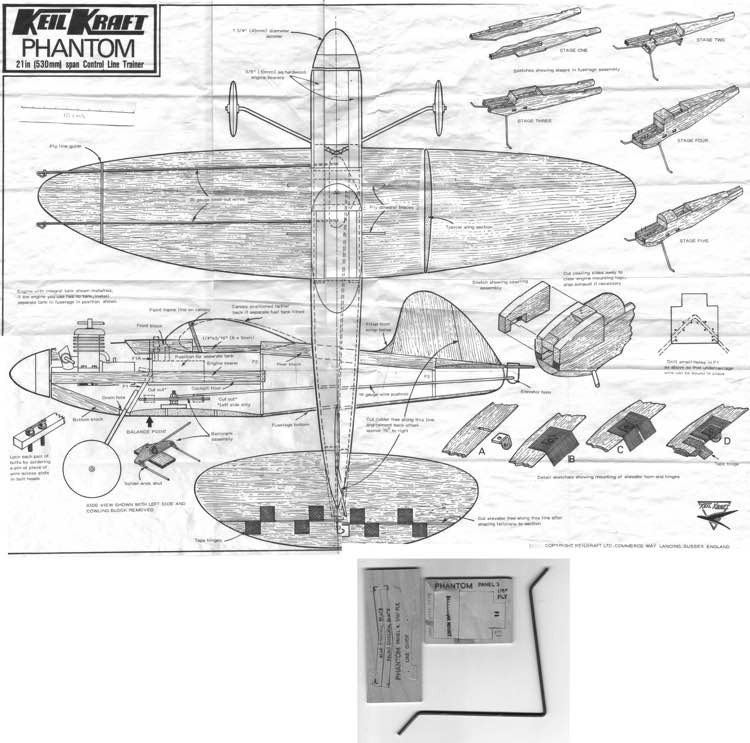 KK-Phantom model airplane plan