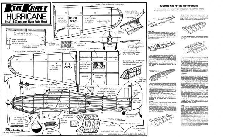 KKHurricane model airplane plan