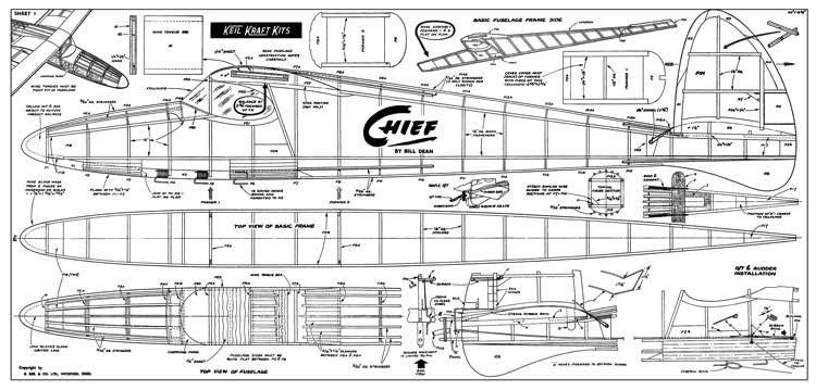 Keil Kraft Chief model airplane plan