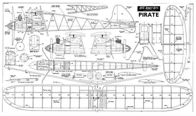 KK Pirate model airplane plan