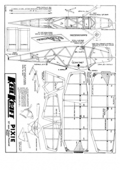 KK Pixie inc pw model airplane plan