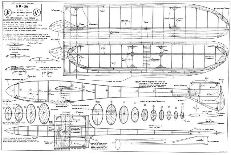 KR-56 model airplane plan