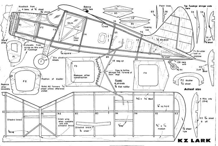 KZLark model airplane plan