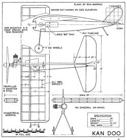 Kan Doo model airplane plan