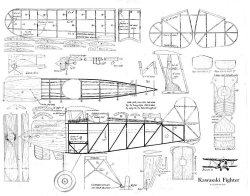 Kawasaki Type 92 model airplane plan