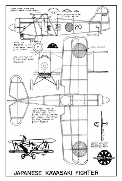 KawasakiFighterDalliareModels model airplane plan