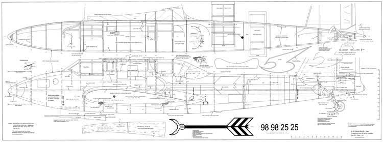 Kawasaki Ki-45 Nick 120in model airplane plan