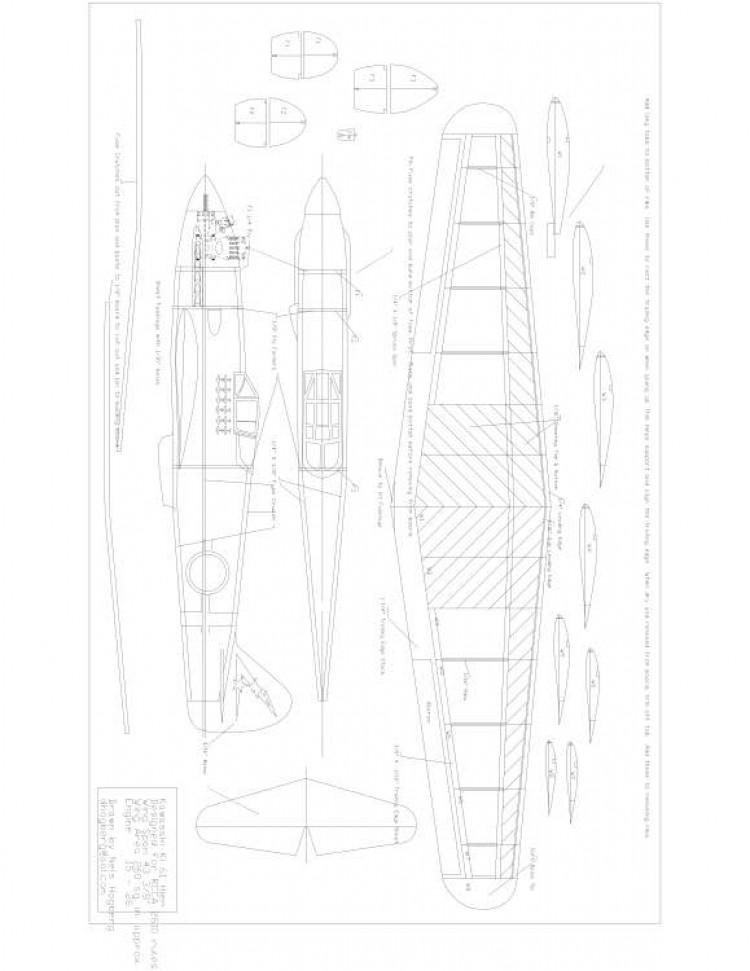 Kawasaki Ki61 Model 1 model airplane plan