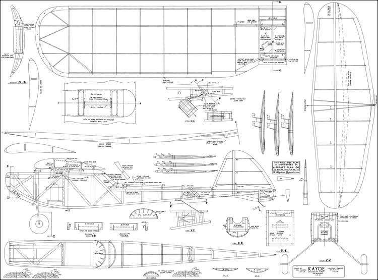 Kayoe 1941 model airplane plan